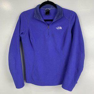 The North Face Purple 1/2 Zip Fleece Pullover